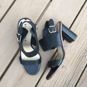 Via Spiga leather strap high heeled sandals